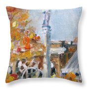 Facing South Throw Pillow