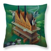 Factory-2 Throw Pillow