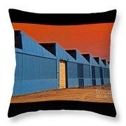 Factory Building Throw Pillow