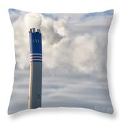 Factory Funnel Throw Pillow