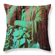 Fade Into The Woods Throw Pillow