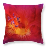 Fade To Freesia - Iridaceae Throw Pillow