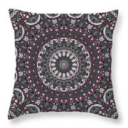 Faded Cedar No. 1 Mandala Throw Pillow