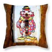 Faded Clown Throw Pillow