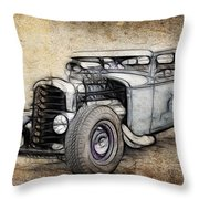 Faded Ford Coupe Throw Pillow