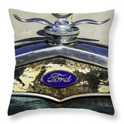Faded Ford Throw Pillow