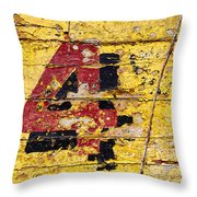 Faded Four Throw Pillow