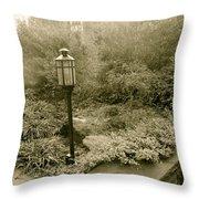 Faded Garden Throw Pillow