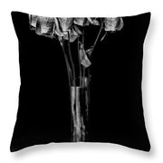 Faded Long Stems - Bw Throw Pillow