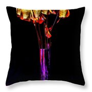 Faded Long Stems Throw Pillow