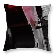 Faded Red Finish Throw Pillow
