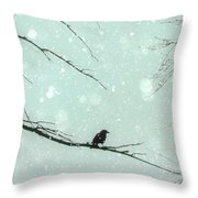 Abstract Faded Winter Throw Pillow