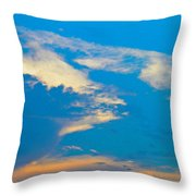 Fading Clouds Throw Pillow