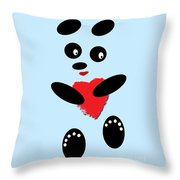 Fading Like A Flower. Panda In Love. 02 Throw Pillow