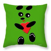 Fading Like A Flower. Panda In Love. 03 Throw Pillow