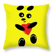 Fading Like A Flower. Panda In Love. 06 Throw Pillow