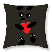 Fading Like A Flower. Panda In The Night Throw Pillow