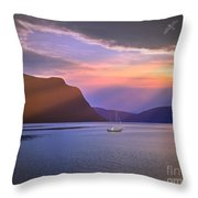 Fading Of The Light Throw Pillow by Edmund Nagele