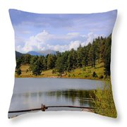Fading Rainbow Throw Pillow