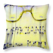 Fading Vision Throw Pillow