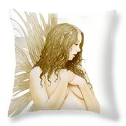 Faerie Portrait Throw Pillow