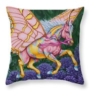 Faery Horse Hope Throw Pillow by Beth Clark-McDonal