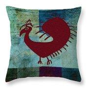 Fafa Bird - 01c01bcr Throw Pillow