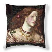 Fair Rosamund  Throw Pillow