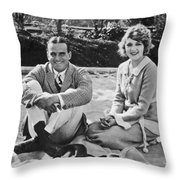 Fairbanks And Pickford Throw Pillow