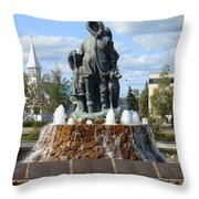 Fairbanks Statue Throw Pillow