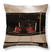 Fairground Waltzer In Sepia Throw Pillow