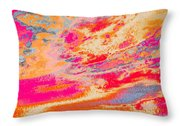 Fairgrounds Sky Throw Pillow