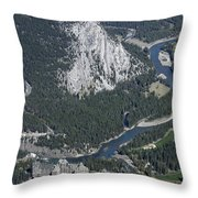 Fairmont Banff Springs Hotel And Golf Course Throw Pillow