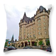 Fairmount Chateau Laurier East Of Parliament Hill In Ottawa-on Throw Pillow
