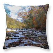 Fairmount Park - Wissahickon Creek In Autumn Throw Pillow
