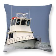 Fairwater II - Parting Waves In The Gulf Of Mexico Throw Pillow