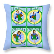 Fairy Angels Throw Pillow
