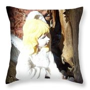 Fairy Captured Throw Pillow