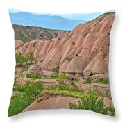 Fairy Chimneys In The Making In Cappadocia-turkey Throw Pillow