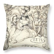 Fairy Concert, C.1830 Throw Pillow