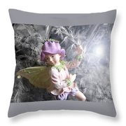 Fairy Hiding From The Light Throw Pillow