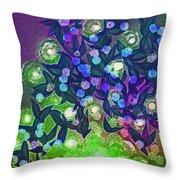 Fairy Light Garden Green By Jrr Throw Pillow