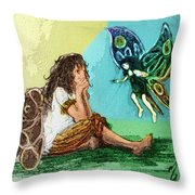Fairy Mother Throw Pillow