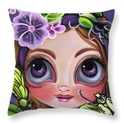 Fairy Of The Insects Throw Pillow