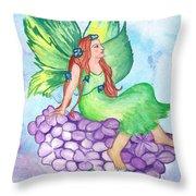 Fairy On Lilac Throw Pillow