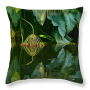 Fairy Pond Throw Pillow
