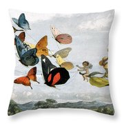 Fairy Queen Takes A Drive Throw Pillow by Photo Researchers