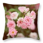 Fairy Roses Throw Pillow
