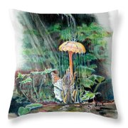 Fairy Shower Throw Pillow