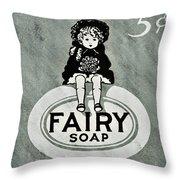 Fairy Soap Throw Pillow